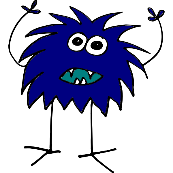 Blue monster image
