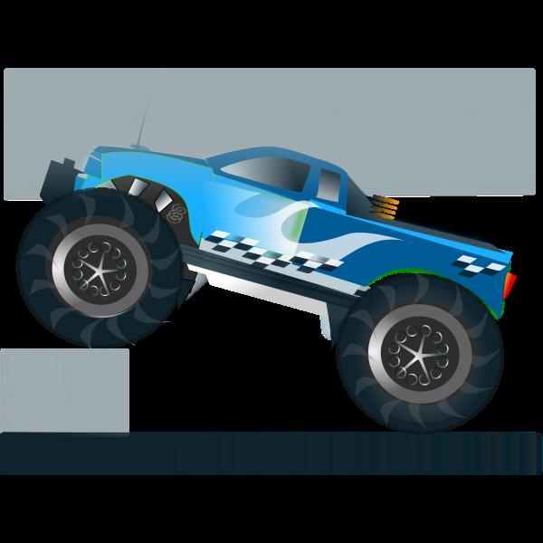 Monster truck stunt vector