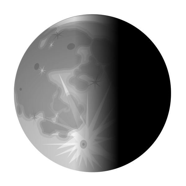 Vector image of half moon