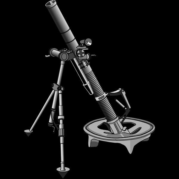 Mortar launcher vector image