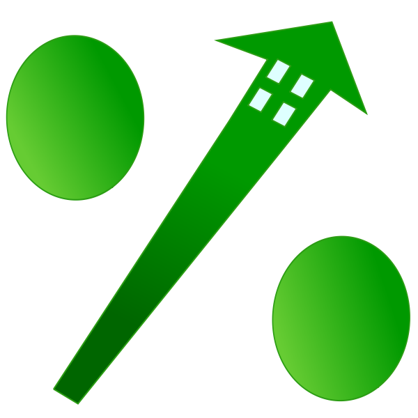 Mortgage rate vector graphics