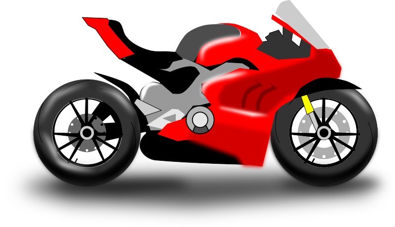 Motorcycle silhouette vector drawing