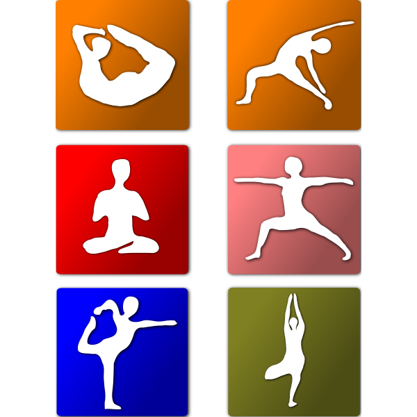 Vector icons of yoga positions
