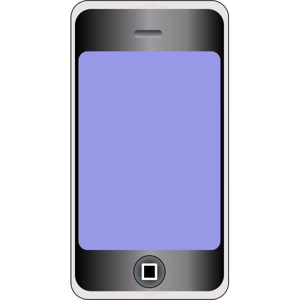 Vector graphics of mobile phone with big screen