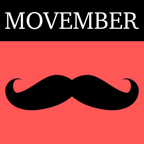 Movember icon vector clip art
