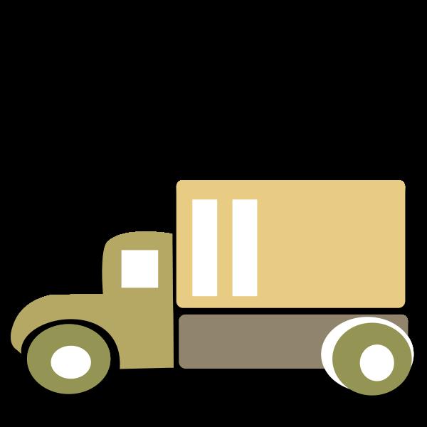 Box truck vector image
