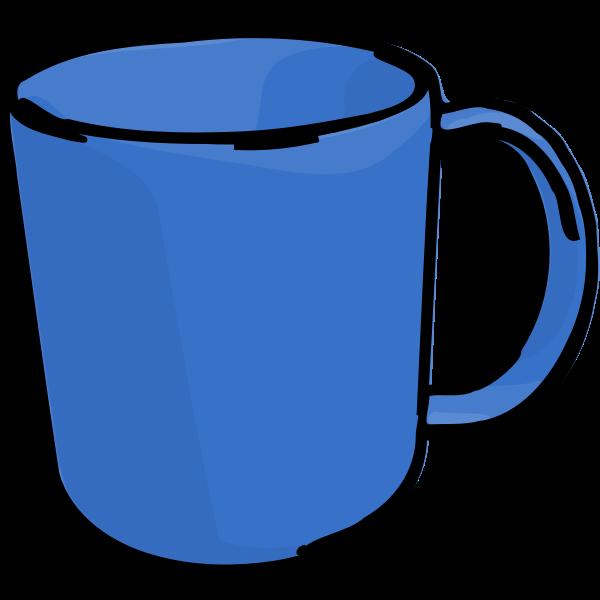 Vector image of blue hot beverage mug