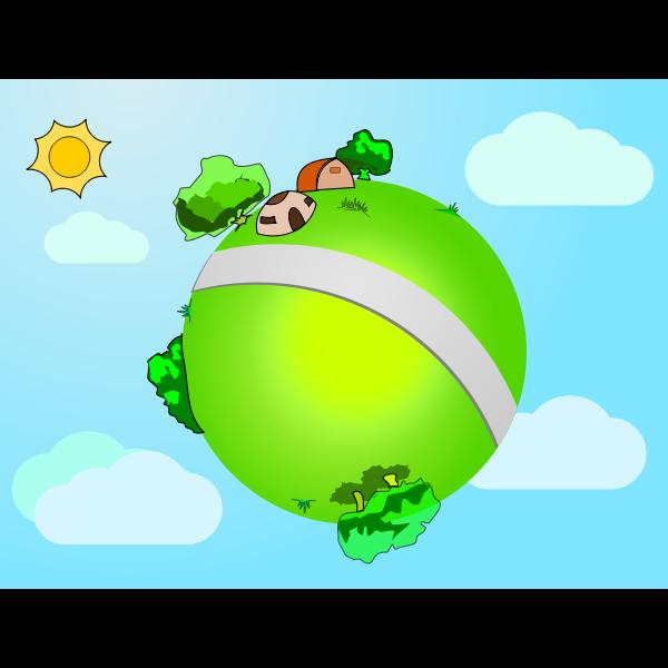 Vector graphics of little world