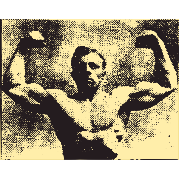 Vector image of a muscular man