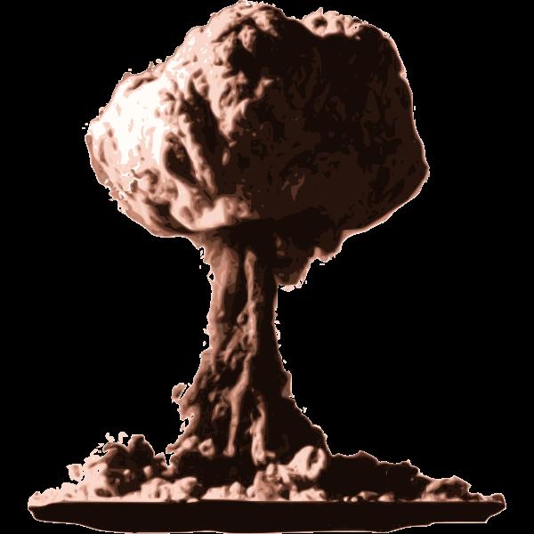 Atomic Bomb Cloud Vector Graphics