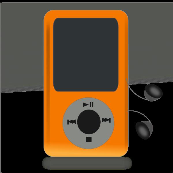 iPod media player vector drawing