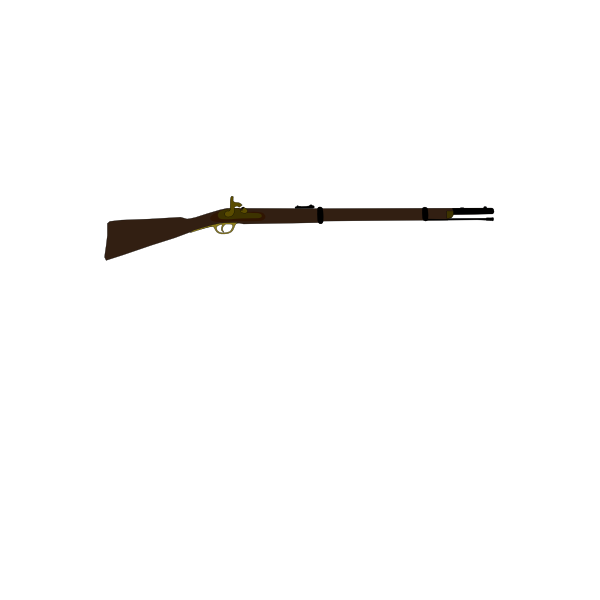 Musket vector drawing