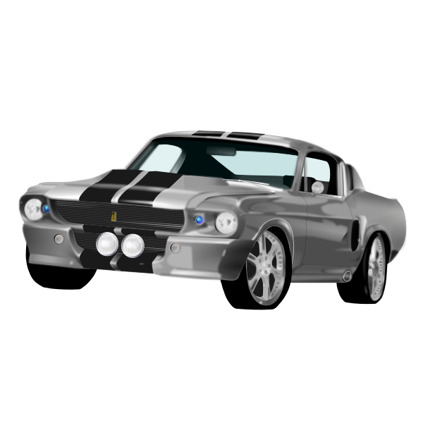 Vector illustration of American muscle car