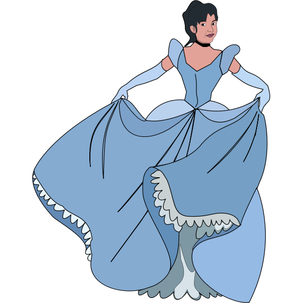 Woman in a ball gown