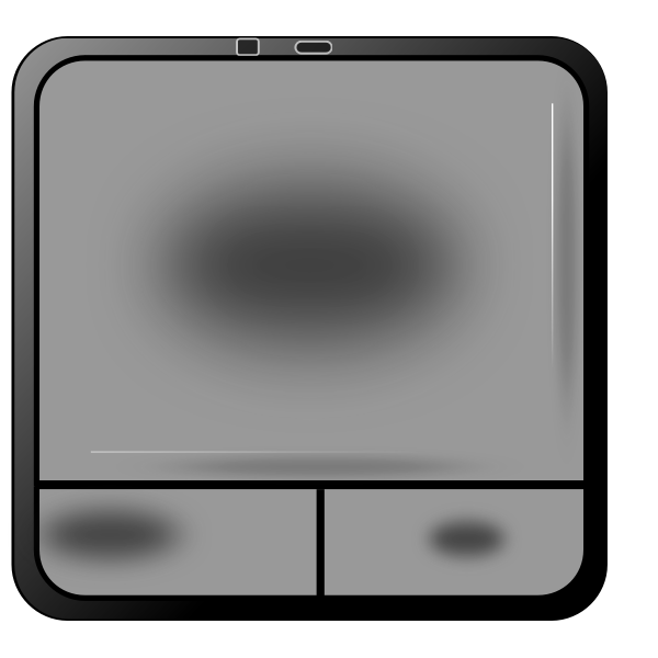 Touch pad vector illustration
