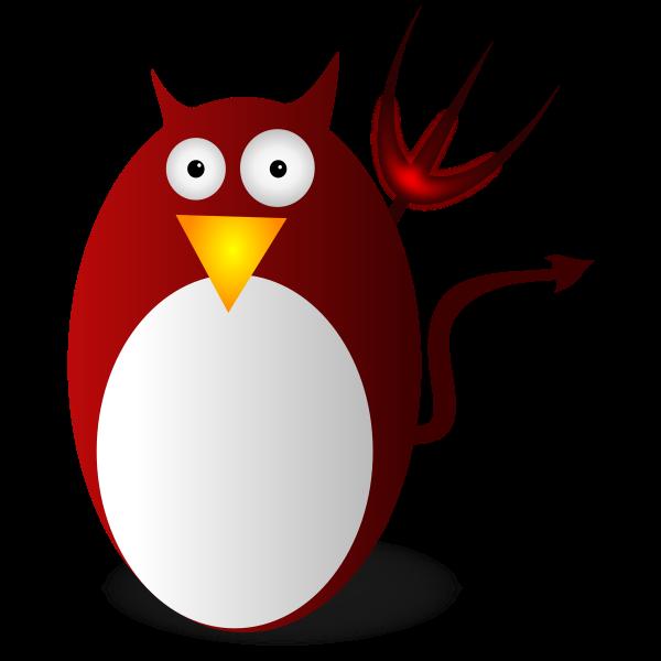 Red devilish tux