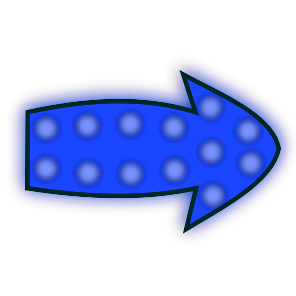 Blurred blue arrow