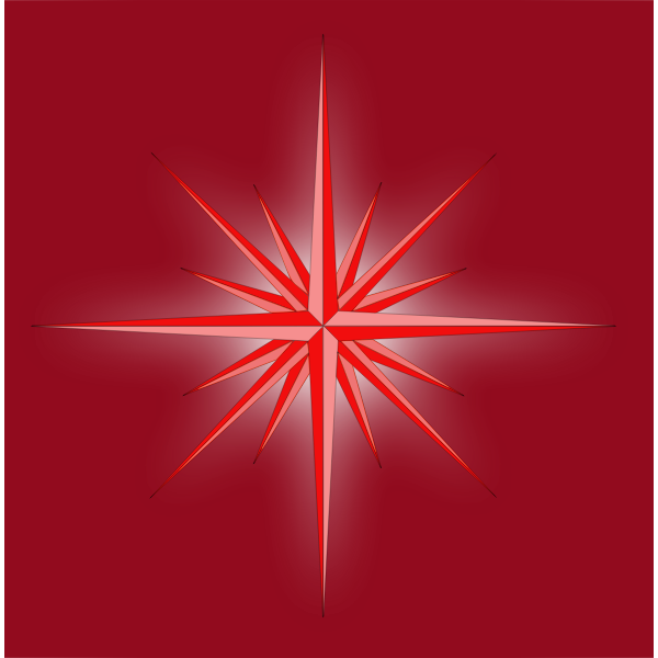 Vector image of glowing red fantasy star