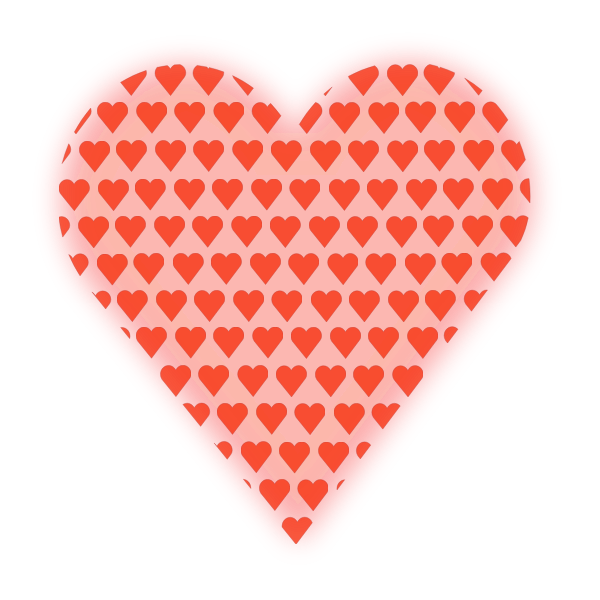 Heart in Heart (light red)