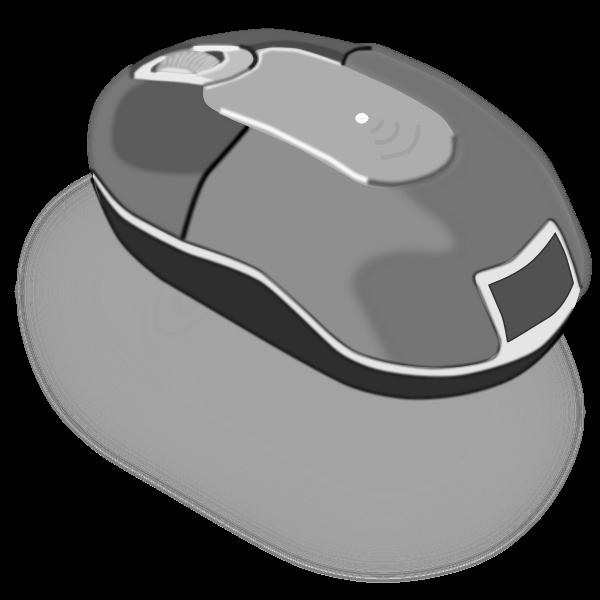 Photorealistic PC mouse vector clip art