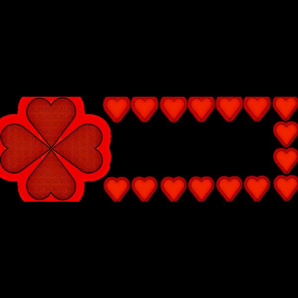 Lucky heart vector illustration