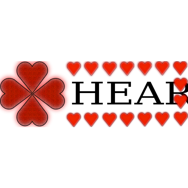 Shamrock and heart vector illustration
