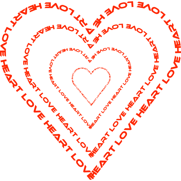 Expanding heart shape vector image