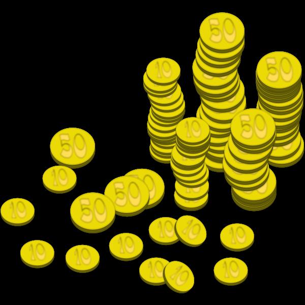 Coins vector art
