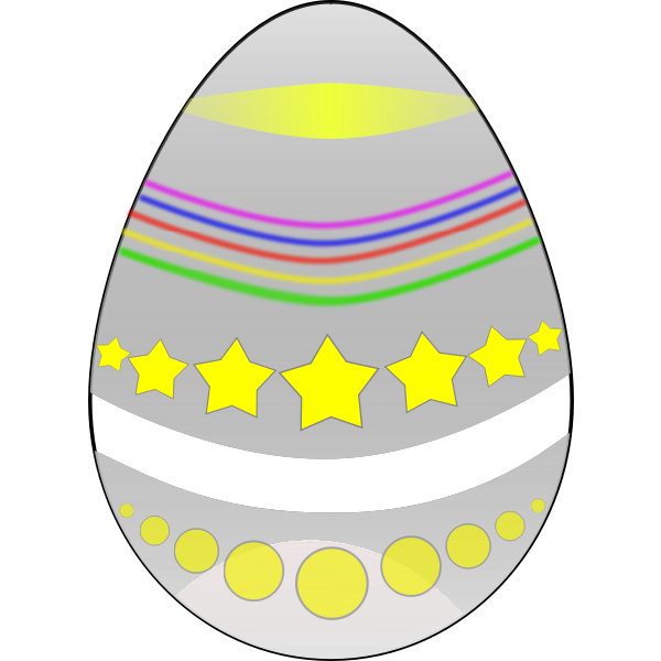 Easter egg vector drawing