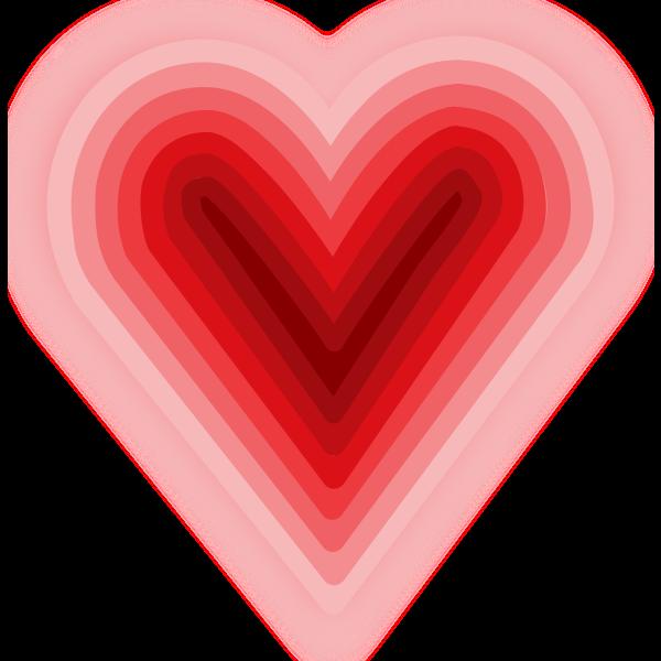 Heart vector drawing