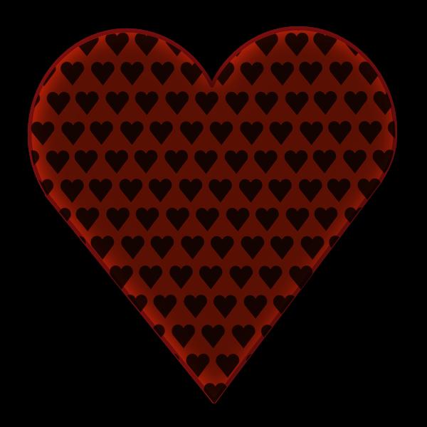 Vector image of heart in heart