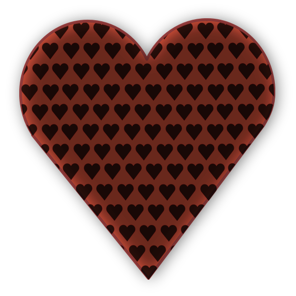 Vector image of heart in heart