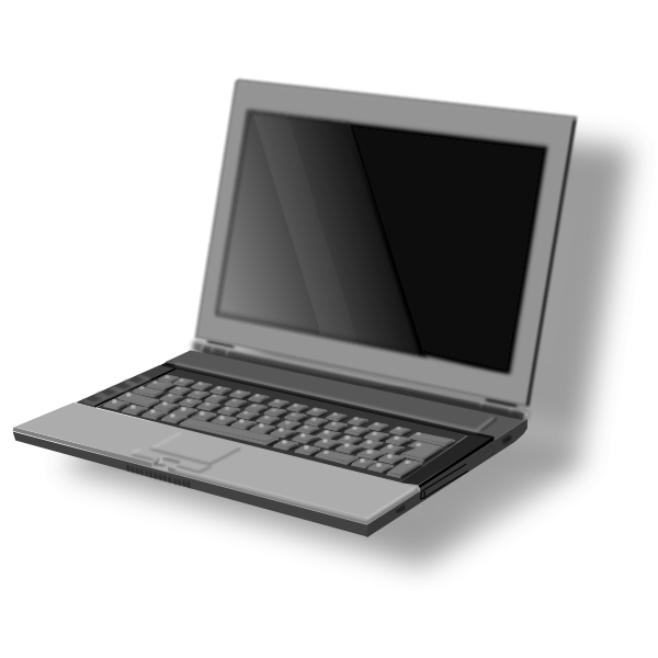 Vector image of front view of laptop PC