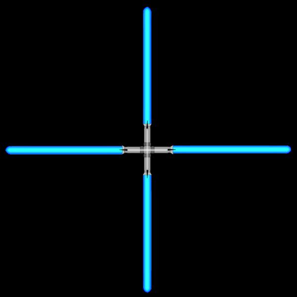Lightsaber vector drawing