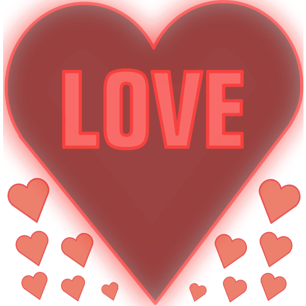 Love in a heart vector image