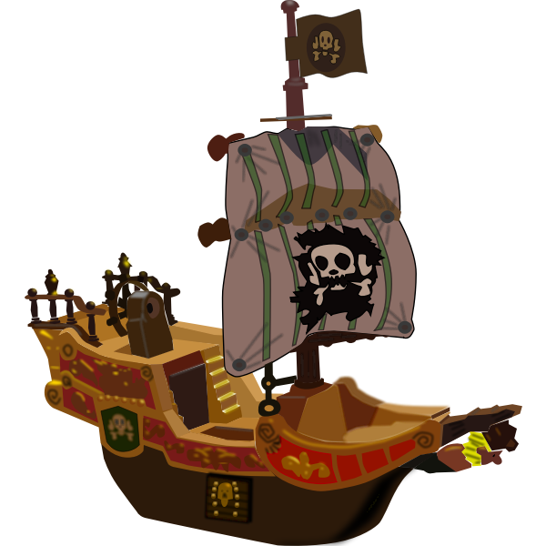 Pirate toy ship vector image