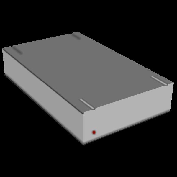 External hard disk vector image
