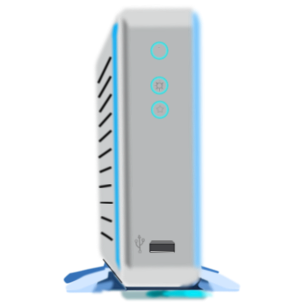 External HD with KED vector image