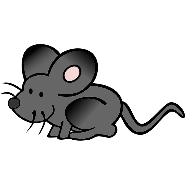 Vector image of hiding cartoon mouse