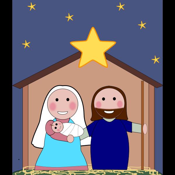 Birth of Jesus Vector Image