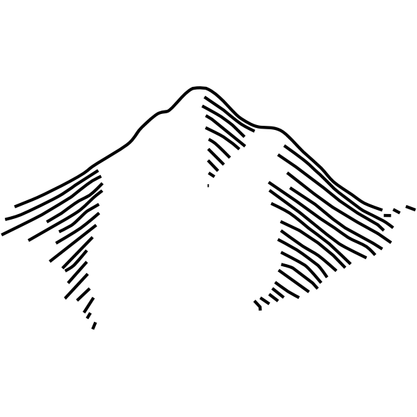 Mountain map symbol vector image