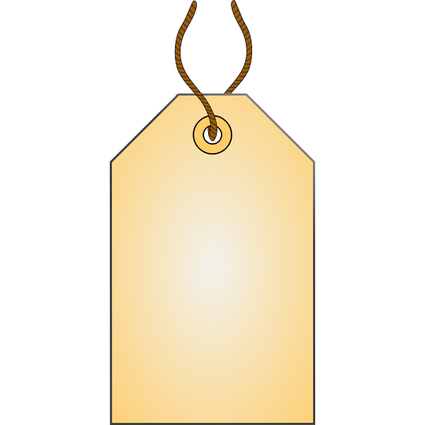 Tag with a rope vector image