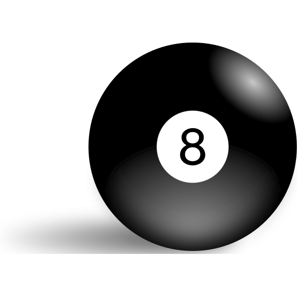 Vector illustration of pool ball