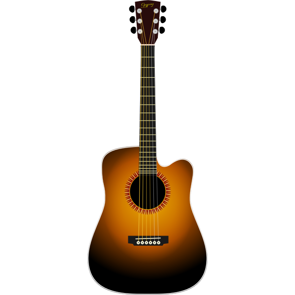 Guitar vector drawing