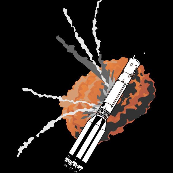 NASA explosion rocket serious