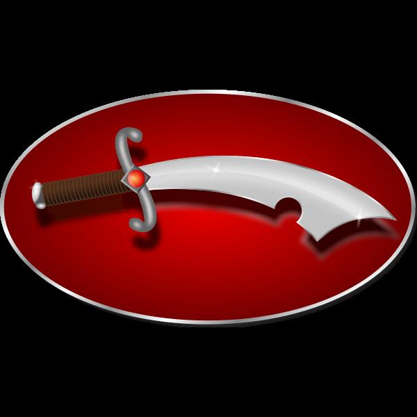 Vector illustration of scimitar