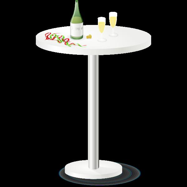 Restaurant table vector clip art