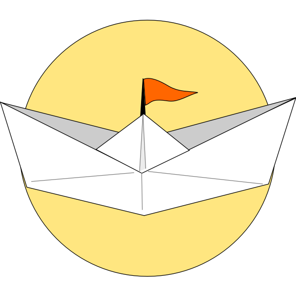 Origami ship vector graphics