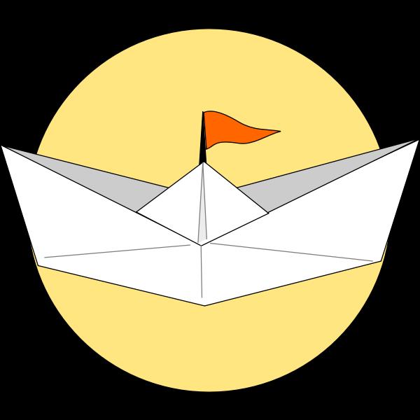 Origami ship vector graphics