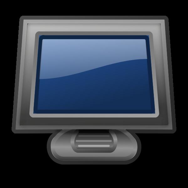PC monitor vector illustration